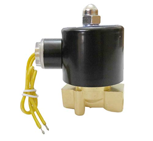 3/8 Inch Solenoid Valve 110V 115V 120V DC Brass Electric Air Water Gas Diesel Normally Closed NPT ()