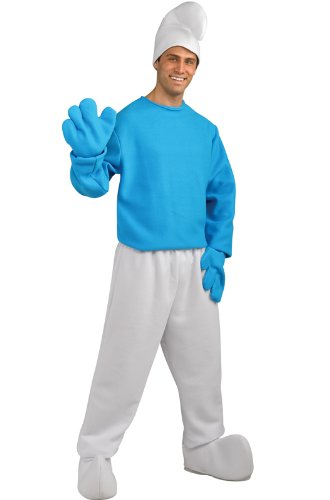 Rubie's Costume The Smurfs 2 Adult Deluxe Smurf, Blue/White, X-Large Costume