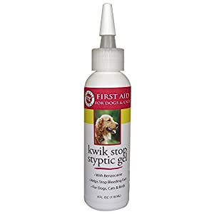 Miracle Care By Miraclecorp/Gimborn 4-Ounce Kwik-Stop Styptic Gel with Benzocaine for Dogs and Cats 98