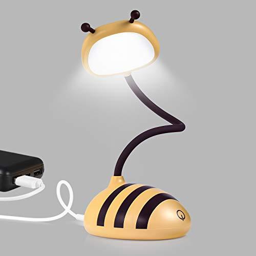 Merry LED Desk, Target Lamp, Home Bedside Touch Table Lamp, USB Port Cordless Desk Lamp, Honeybee Yellow.