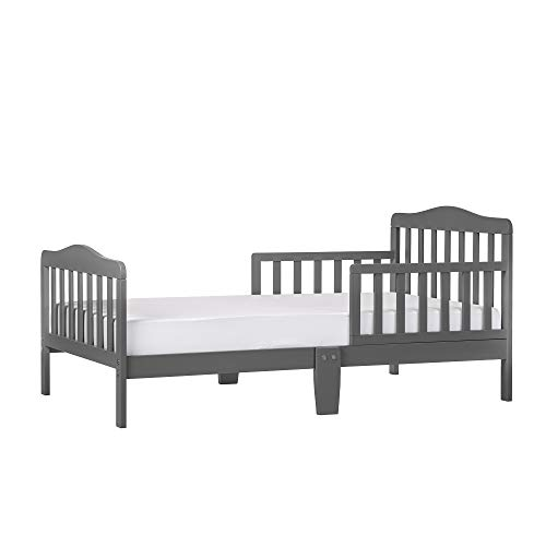 Dream On Me Classic Design Toddler Bed, Storm Grey
