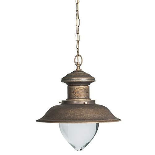 Farol Lámpara de techo de latón bruñido estilo náutico ...
