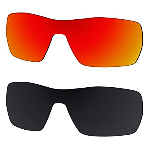 Galvanic Replacement Lenses for Oakley Offshoot OO9190 Sunglasses - Ruby + Black Polarized - Combo ()