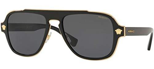 Versace Man Sunglasses, Black Lenses Metal Frame, ()