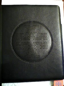 Authentic Tory Burch Leather Kipp Flip E-tablet Ipad Case