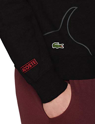 Noir Fonce Chine Sh3499 Sweat shirt Lacoste Homme Sport Gris pwn0xgzXq
