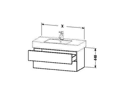 Duravit Waschtischunterschrank wandh. Delos 470x800x448mm 2 SchKa, für 032985, nussbaum gebürstet, D