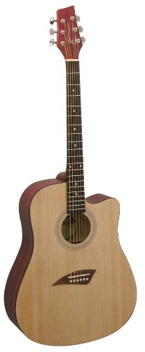 Kona K1 Acoustic Dreadnought Cutaway Guitar in Natural Satin Finish by Kona Guitars
