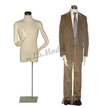Amazon.com: Male Half Body Dress Form Mannequin with Bendable Arms ...