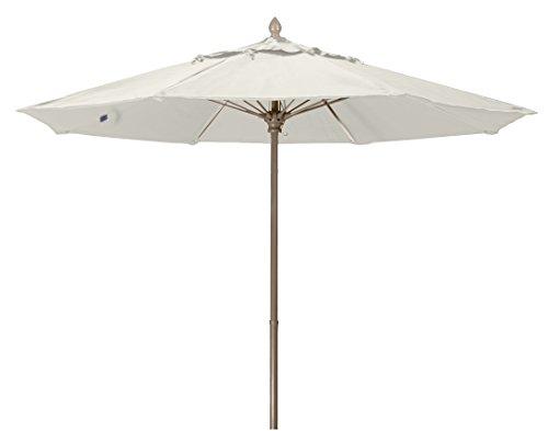 FiberBuilt Umbrellas 7MPUCB-8605 Market Umbrella, 7.5' Marine Grade Canopy, Natural White