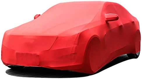 BMW BMW 7シリーズL、通気性フィットザ・カーボディ断熱日焼け止めフォーシーズンズ利用可能なフルカバレッジカーカバーと互換性防塵ストレッチ布のカーカバー (Color : Red, Model : 745Le)