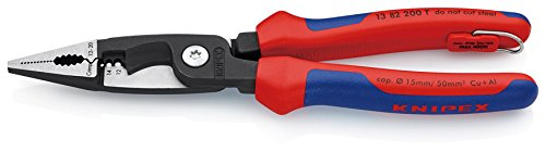 13 82 200 T BK Pliers For Electrical Installation with Tether Attachment Pt. In Blister Packaging by KNIPEX Tools