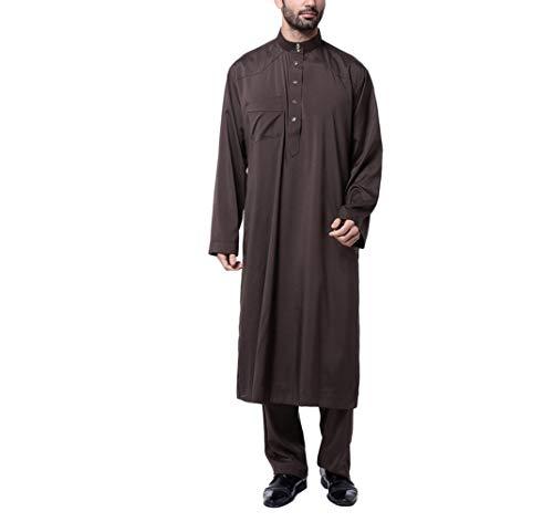 Jalabiya Caftan Islamique Homme Arabe Chemise Manche Pantalon Kruihan Vêtements Abaya Musulmane Longue qawOxAU