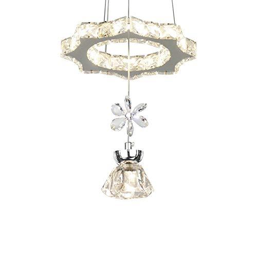 Yankuoo élégant cristal larme lustre prismes fleur pendentifs