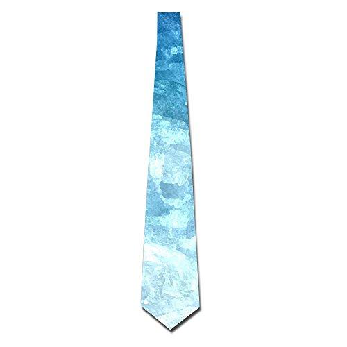 Men's Tie Necktie Neckwear Polyester Silk Neckcloth Blue Watercolor Wave Printed Neck Choker Women's Party Accessory