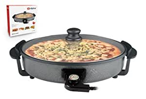 Alpina SF-6024 Electric 14 Inch Non-stick Pizza Pan 3.8cm Deep Die Cast Pizza Pan with Thermostat - for 220/240V Countries