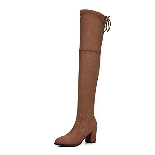 ruvida grandi di colori VB Brown rotonda scarpe dimensioni cingitallone caldo testa Stivali solidi con cinghia AqTwaXYwv