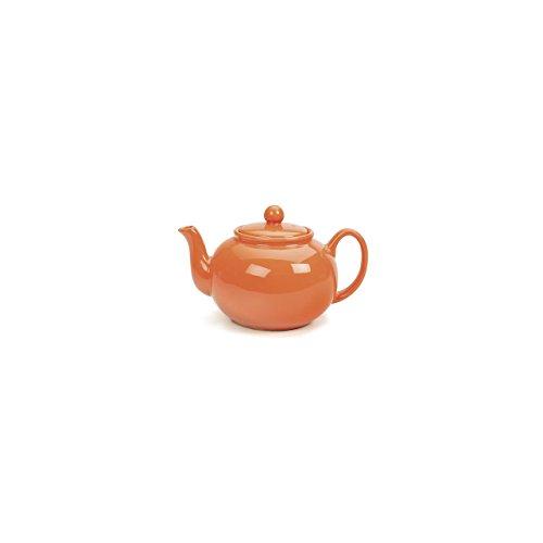 RSVP Tangerine Orange Stoneware Teapot product image