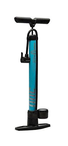 Bell Air Glide High Pressure Floor Pump with Gauge, Blue ()