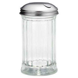 Tablecraft 12 Oz. Plastic Cheese Shaker with Perforated S/S Top by Tablecraft