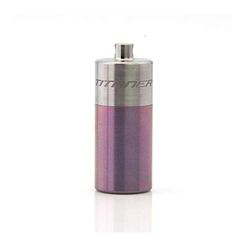 Classic Pill (Titaner Titanium Classic Pill Case Waterproof Bin Portable Your Pouch Sealed Capsule TI-FSH-01 (Purple))