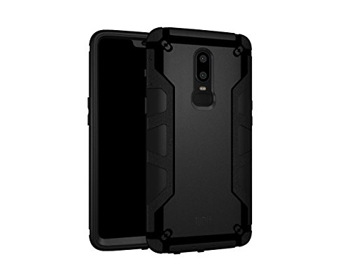 OnePlus 6 Case, TUDIA OMNIX [Heavy Duty] Hybrid [Full-Body] Case with Front Cover and Built-in Screen Protector/Impact Resistant Bumpers for OnePlus 6 (Matte Black)