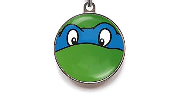 Pet Supplies : Wag-A-Tude Tags Ninja Turtle Blue Funny ...