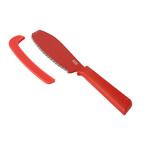 "Kuhn Rikon 23059 Colori Sandwich Knife, 5.5"", Red"
