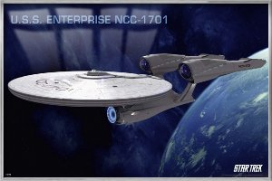 (Star Trek XI: The Future Begins - Framed Movie Poster / Print (U.S.S Enterprise NCC-1701) (Size: 36
