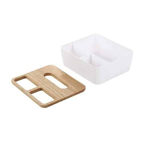 Basde Creative Multifunction Tissue Box Holder Desk Storage Box, Pencil Remote Holder Business Card/Pen/Pencil/Mobile Phone/Stationery Holder Storage Organizer Small Tissue Box