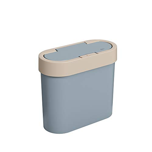Lixeira Automática 2,8l Flat Coza Azul Fog + Light Gray