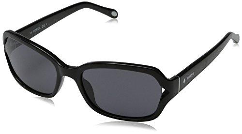 Fossil Women's FOS3021S Rectangular Sunglasses, Black, 55 - Fossil Sunglasses Women