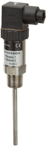 NOSHOK 800 Series Platinum Resistance Temperature Transmitter, <=(VPower -10)/0.020 Amp, 10-30 VDC, 4 mA-20 mA 2-Wire Output, 50/400 F Temperature Range, +/-0.5% Accuracy, 1/2