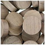 WIDGETCO 3/4'' Walnut Wood Plugs, Face Grain