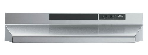 Broan F402404 24-Inch Two-Speed 4-Way Convertible Range Hood, Stainless Steel