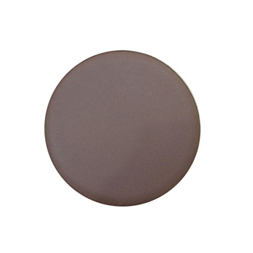 12 Round Leather - Rosavida 12 Inch Waterproof Round Stool Cover Faux Leather Anti-slip Round Barstool Seat Covers Brown