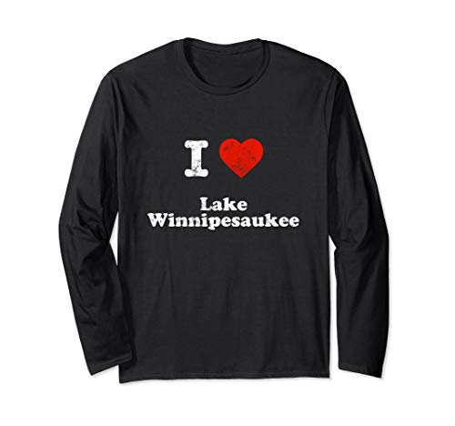I love Lake Winnipesaukee boat camp adventure NH 603 funny Long Sleeve T-Shirt (Best Family Campgrounds In New England)