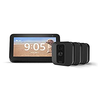 Echo Show 5 (Charcoal) with Blink XT2 Outdoor/Indoor Smart Security Camera - 3 camera kit