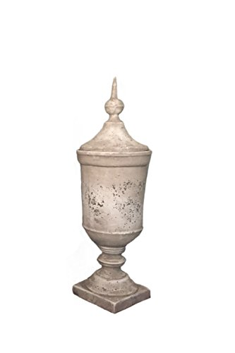 - Faux Cement Footed Urn, Small