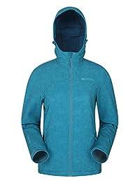 Mountain Warehouse Exodus Womens Printed Softshell Rain Jacket Teal 6