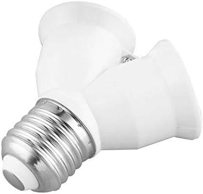 Adaptateur convertisseur de lumi/ère Blanc Douille dampoule E27 vers E27 en forme de Y