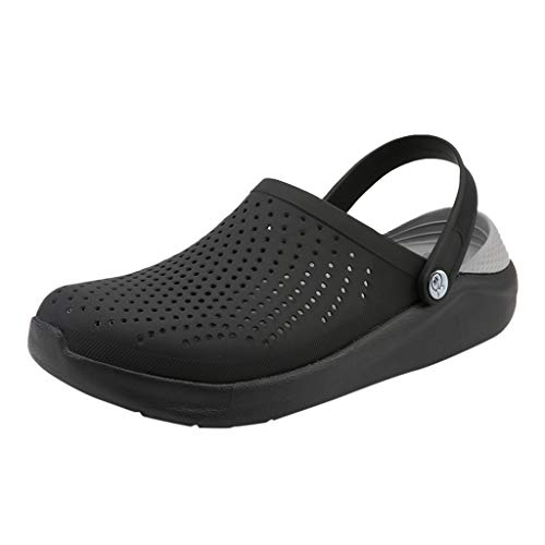 SUGEER Women Garden Clog Shoes,Men Breathable Slippers Beach Sandals Shower Water Walking Anti-Slip Shoes from SUGEER