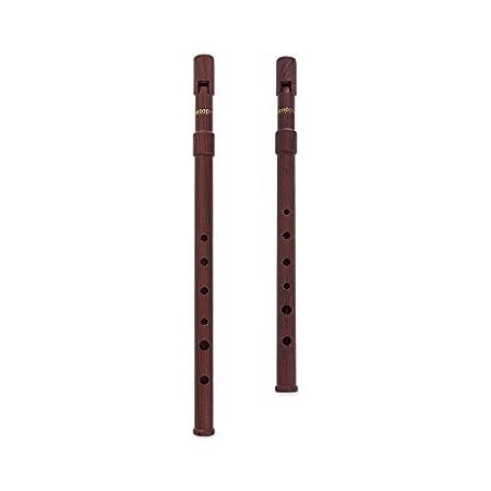 Woodi WI-921 WI-922 Set of 2 Irish Whistle Matte Black Key of C & Key of D Tin Whistle Penny Whistle ABS Woodi USA