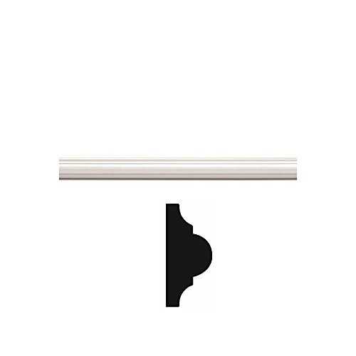(Focal Point 1-1/2 in. x 96 in. 8 ft. Panel Moulding in Primed White)