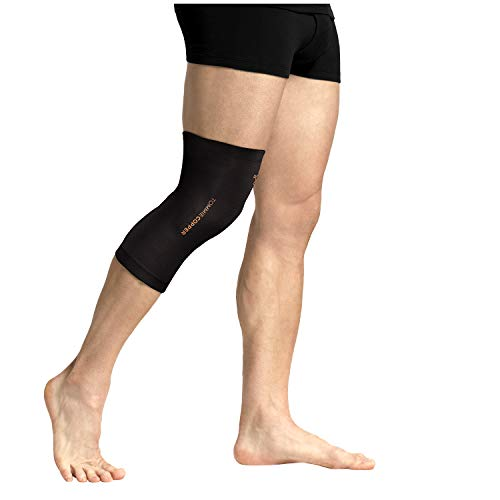 Tommie Copper - Unisex Core Compression Knee Sleeve - Black - Small