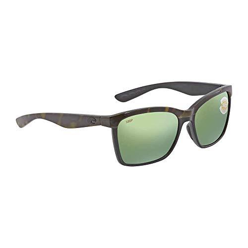 Costa Del Mar Anaa Sunglasses Olive Tort on Black Green Mirror ()