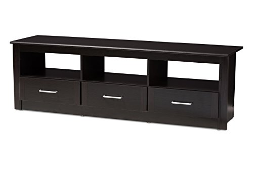 Baxton Studio 146-424-A8282-AMZ Jarmen TV Stand, Wenge Dark Brown