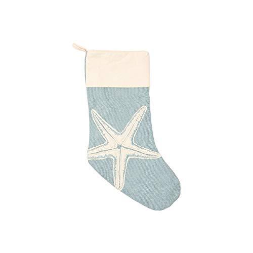 C&F Home Starfish Applique Nautical Blue 20 x 9 Burlap Jute Fabric Christmas -
