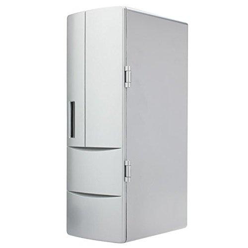 USB Portable Mini Cooling And Heating Fridge Silver Refrigerator Frig Buckdirect Worldwide Ltd. dk-087