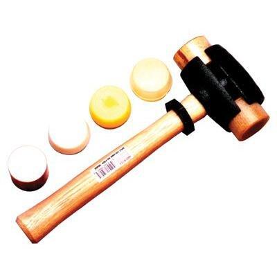 Garland Mfg 31005 Split Head Hammers, 2 3/4'' Diameter, 14'' Handle, Rawhide